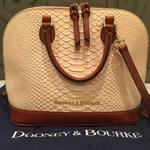 Pink Dooney & Bourke Caldwell Zip Zip Satchel